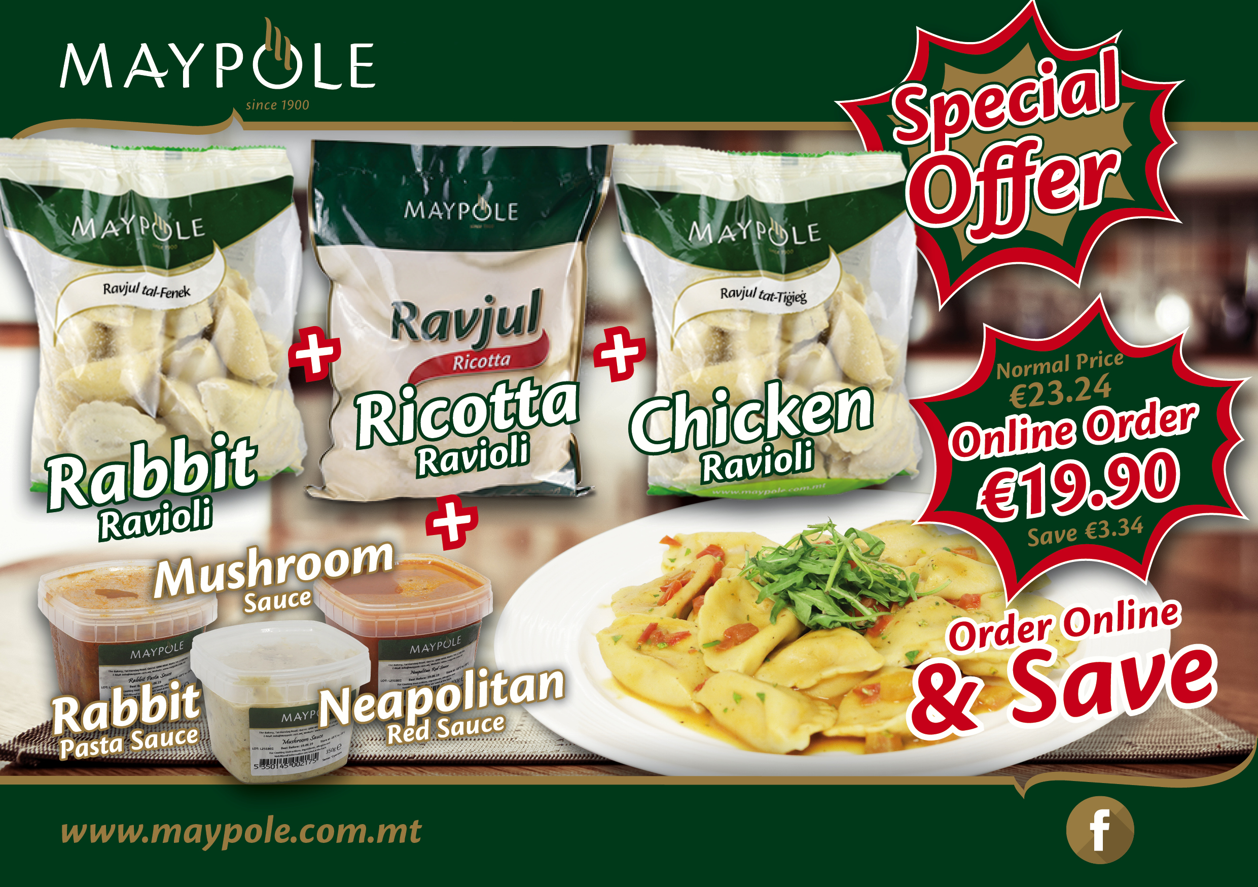 Super Ravioli Combo Pack Offer!